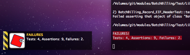 Failure notification